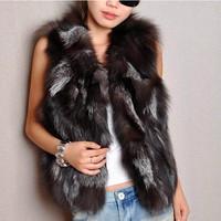 Женская одежда из кожи и замши New!! Women Genuine Sheepskin Leather Down Coats with Natural Fox Fur Collar Slim Fashion Outerwear Fur Jackets