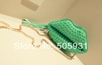 2013 candy color rivet chain tassel small bags