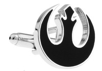 2013 The Flame Design  Fashion  Black  Cufflinks for mens  jewelry  A0986