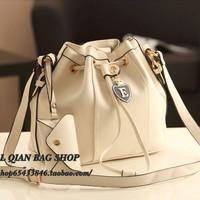 2013 women's handbag casual bag one shoulder scrub bucket bag messenger bag tassel bag