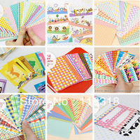 Min Order is $5,(1 Lot =40 Sheets) 9 Different Styles DIY Scrapbook Paper Photos frame decorative stickers Free Shipping