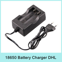 X20  Wired Dual Travel Charger For Lithium Li-ion 18650 Battery charger pack charger EU or US plug Free Shipping via DHL