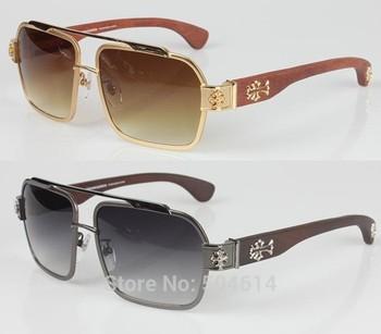 2013 New Double Bridge Mens Gentleman Unisex Stainless Steel Metal Cool Gift Fashion Wonderful Sun Eyewear Sunglasses