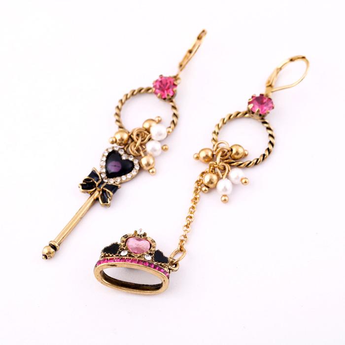 Fashion accessories taiaha Women asymmetrical vintage earrings Factory Wholesale