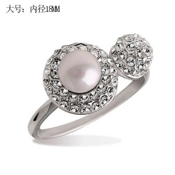 Free shipping Yiwu accessories ring moon pearl ring 2868(China (Mainland))
