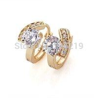 2014 New Fashion,Charm,14K Gold Plated,Gold ,Women Luxurious Zircon Earrings, Earrings Europe and America Jewelry B15