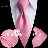 Brand New Necktie Polyester hot pink striped Handmade Men's PINK Tie T644