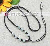 8 jade beads rope necklace pendant lanyard jade pendant lanyard