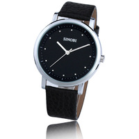 Sinobi brand watches black strap fashion male table spermatagonial