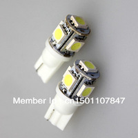 10pcs T10 DC 12V White SMD 5050 5 LED Wedge Car Bulb LAMP