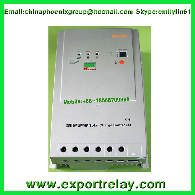 free shipping sell Tracer-4210RN MPPT Solar charge Controller 40A 12/24VAuto With MT-5 Remote Meter(China (Mainland))