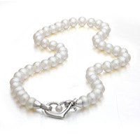 Sweet Love Necklace 925 Sterling Silver White Freshwater Pearls Heart Chain Necklace 2013 NEW Sale Free Shipping