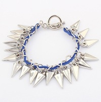 Min order $10 Korean fashion cone orange Bracelet free shipping Dark Blue