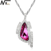 MT JEWELRY Plated Necklaces White Gold Plating Jewelry Crystal Inspired Pendant Necklace