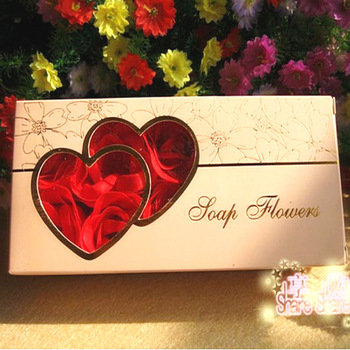 Free shipping Bronzing Gift Box Rose Soap (10) Wedding Favor wedding gift ideas and practical Furnishing