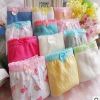 wholesale lovely cute multi-color bowties shape girls panties