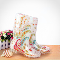 Elegant fashion female boots gaotong japan female rain shoes rainboots water shoes fashion rain boots y3-2