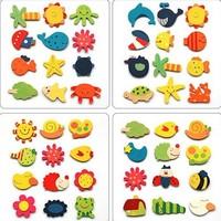 Free shipping!  infant educational toys cartoon  wooden fridge magnet sticker 1pack (12pcs)  2packs/lot