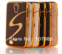 S Style Luxury Gold Chrome Case for Samsung Galaxy S4 i9500 S 4 S IV Free shipping 6 Color for Choose Min 1 Piece