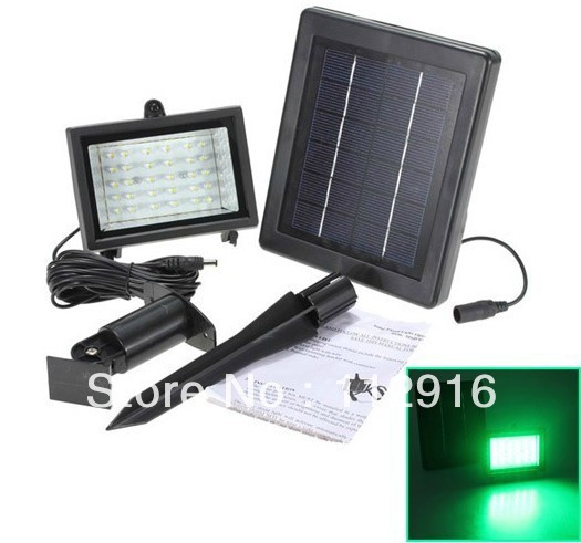 30LED Outdoor Solar Power Wall Mount Garden Flood Light /Lawn Spotlight Lamp/Floodlight/ Color Optional Wholesale and Retail(China (Mainland))
