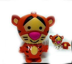 Fast ship 4gb 8gb 16gb 32gb female tiger USB 2.0 flash drive memory pen disk Drop ship dropshipping(China (Mainland))