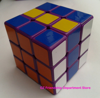 5.7cm Dayan 5 V zhanchi 3x3 magic speed cube twist puzzle Purple color with extra stickers ePacket  Free Shipping