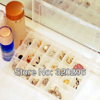 Transparency assembled DIY jewelry box (24 cell) storage box