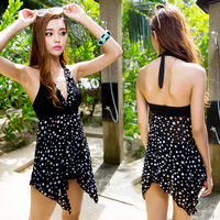 Free shipping 2013 hot Large plus size swimwear one-piece dress,spring summer women's swimwear
