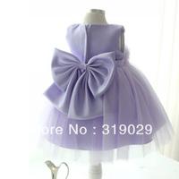 Flower girl dress Baby wear Princess Full dress Bow Sleeveless High quality MOQ 1PC Drop shipping Children casual clothes