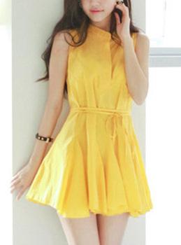 2013 women's spring one-piece dress sweet sleeveless tank dress chiffon basic skirt short skirt