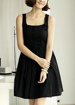 2013 summer chiffon one-piece dress black white basic slim women's tank dress
