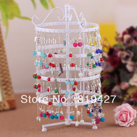 Free Shipping New Jewelry Earring Display, 144 Holes white Metal Earring Jewelry Necklace Display Rack Stand Holder