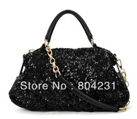 Free shipping women pu leather bags gilter hanbags 2014 fashion high quality tote bag