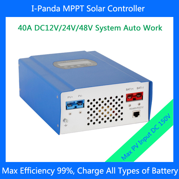 English Germany Poland Italy 12V 24V 48V 40A MPPT Solar Panel Battery Charge Controller Regulators LCD RS232 photovaltaic(China (Mainland))