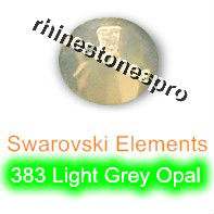 ss12 GENUINE Swarovski Elements Light Grey Opal ( 383 ) 144 pcs ( NO hotfix Rhinestone ) Clear Glass 12ss 2058 FLATBACK Crystal(Hong Kong)