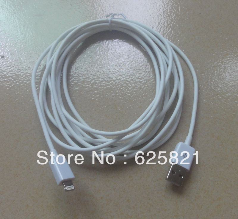 3m long USB Data Sync Charger Cable for iPhone 5(China (Mainland))