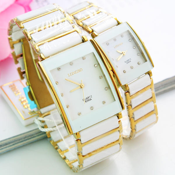 Lovers watch trend table white ceramic bracelet watch student table(China (Mainland))