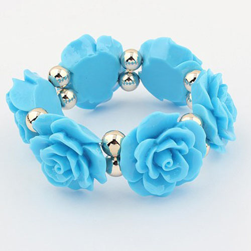Bracelet Women rose resin bracelet fashion royal vintage sweet summer all-match(China (Mainland))