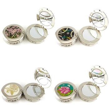 Free Shipping bling shiny with mirror handbag hanger folding bag purse hook flower designer gift for lady wholesale&retail