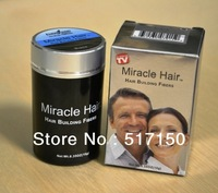 Free shipping hair building fiber 10g per box miracle brand black color building fiber