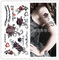 colorful rose tattoo stickers