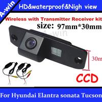 wireless car  parking camera For Hyundai Elantra sonata Tucson  Waterproof CCD rearview camera