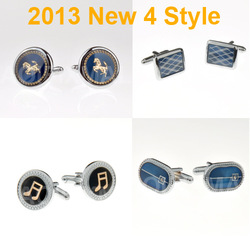 2013 NEW Fashion Classic 4 style Men cufflinks Can be mixed ties high quality Note Horse(China (Mainland))