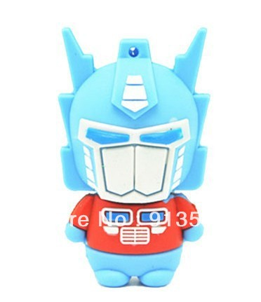 Optimus Prime shape usb flash disk drive 2GB 4GB 8GB free shipping(China (Mainland))