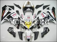K428 ABS White Black Fairing for KAWASAKI Ninja ZX6R 05 06 ZX6R 2005 2006 ZX 6R ZX-6R 636 2005-2006