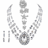 Marriage accessories the bride necklace wedding accessories jewelry rhinestone crystal chain sets