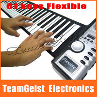 HOT Sale Digital Electric Piano 61 Key Flexible Hand Roll Up 61K Soft KeyBoard Piano with 128 tones 100 rhythm Free Shipping