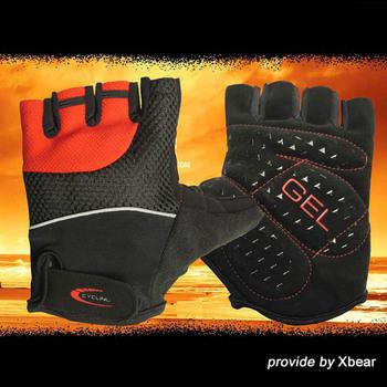 Silica gel ride gloves half finger bicycle gloves summer male Women wear-resistant slip-resistant sitair