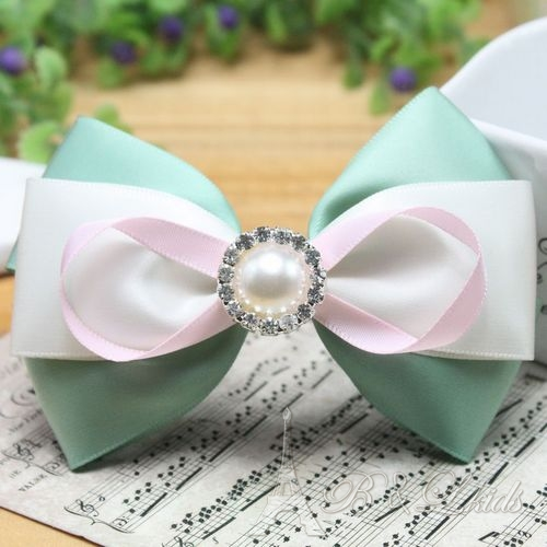 Accessories bow hair accessory diamond handmade hairpin spring clip headband clip tails hair pin(China (Mainland))