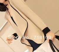New Women's Loose Coats Irregular Chiffon Tops Ladies Long Sleeve Leisure Jacket